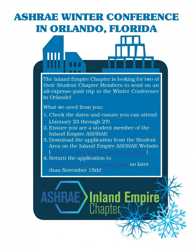 ASHRAE Winter Conference - 2016